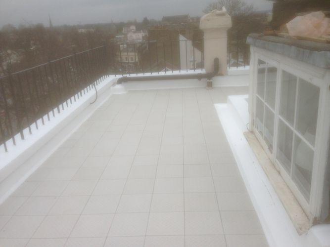 Expert Flat Roofing - GRC Tiles on Asphalt